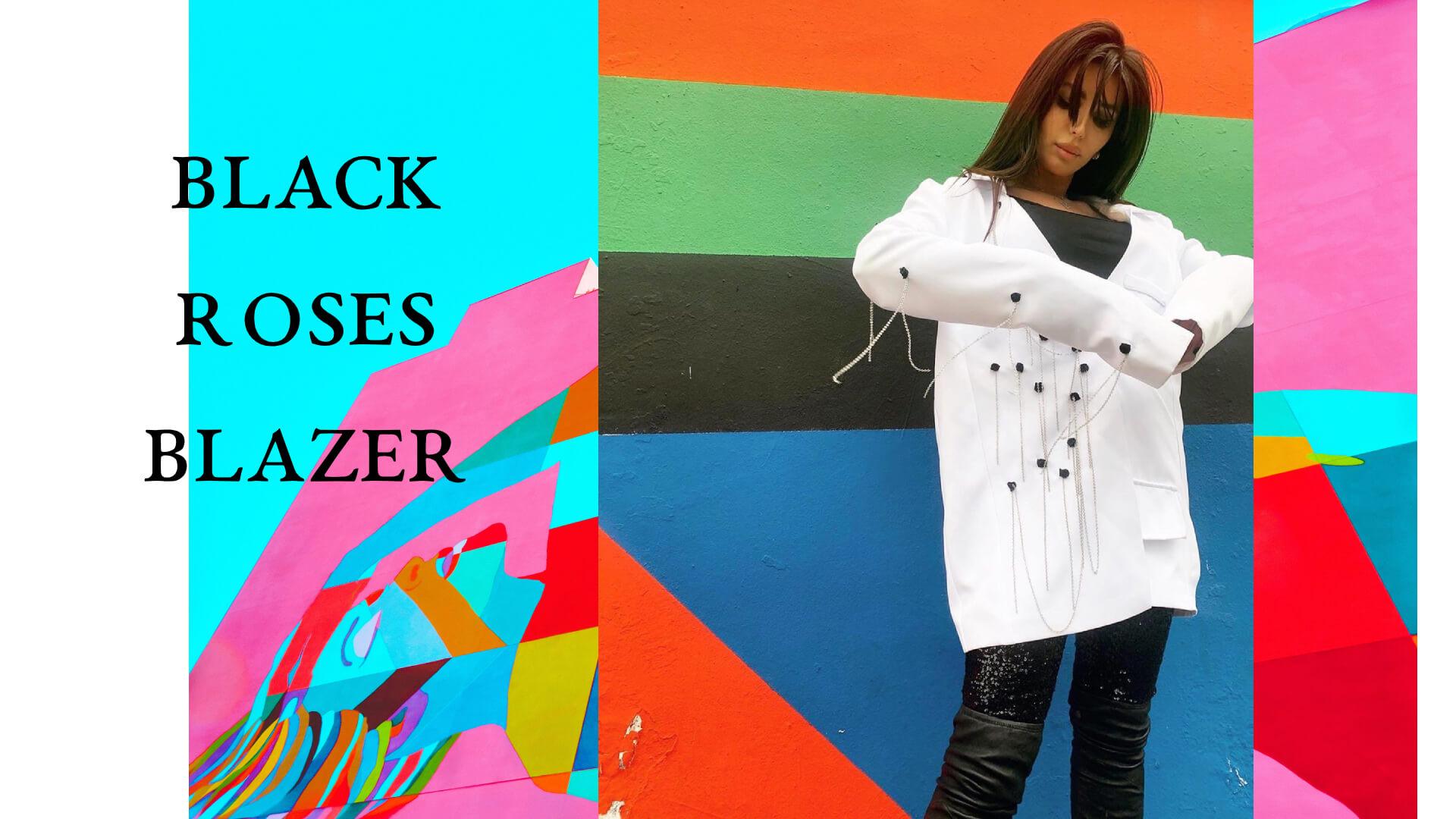 black roses blazer